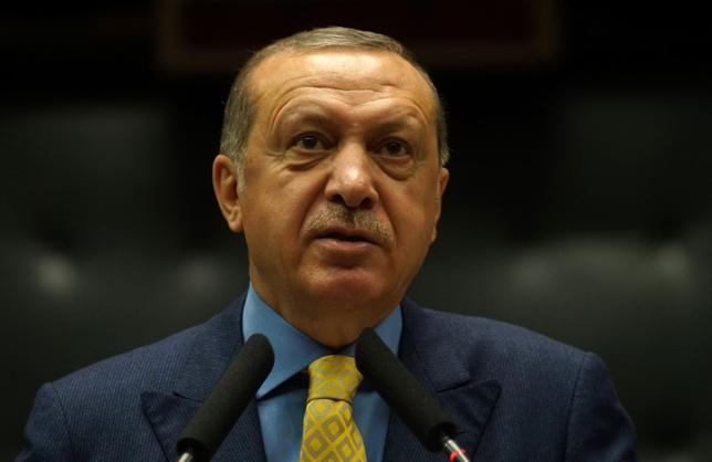 6月6日、トルコのエルドアン大統領は、一部のアラブ諸国がカタールと断交したことを受けて、緊張緩和のため、カタール、ロシア、クウェート、サウジアラビアの首脳と電話会談を行った。写真は5月アンカラで撮影(2017年 ロイター/Umit Bektas)