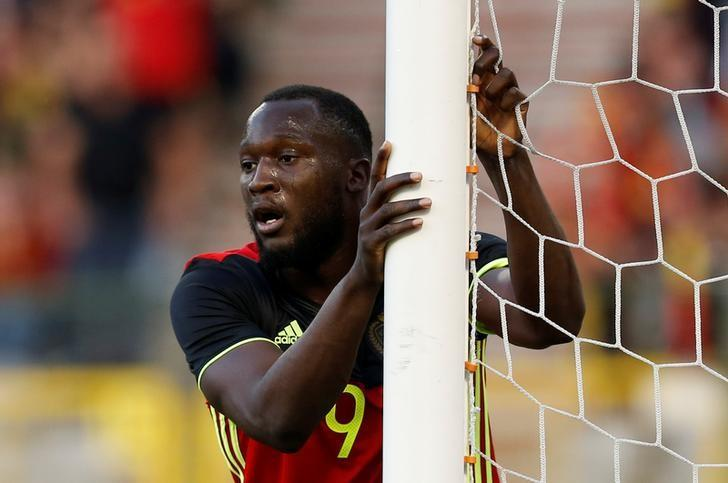 Football Soccer - Belgium v Czech Republic - International Friendly - Heysel Stadium, Brussels, Belgium - June 5, 2017   Belgium's Romelu Lukaku   Reuters / Francois Lenoir