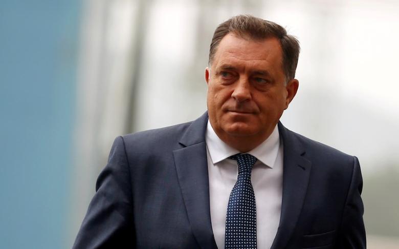 FILE PHOTO: Republika Srpska President Milorad Dodik at a ceremony in Stanari near Doboj, Bosnia and Herzegovina, September 20, 2016. REUTERS/Dado Ruvic/File Photo - RTSVZD0