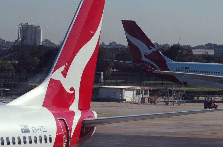 Qantas aircraft are pictured on the tarmac of Sydney Airport in Australia, May 5, 2017.     REUTERS/Jason Reed