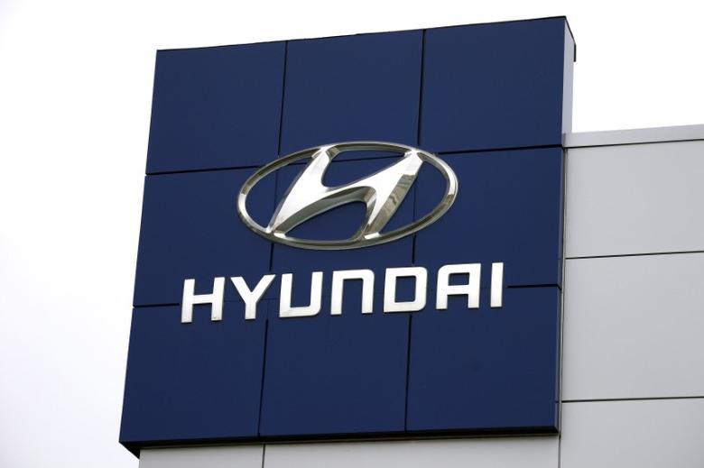 File photo: The Hyundai logo is seen outside a Hyundai car dealer in Golden, Colorado, November 3, 2014. REUTERS/Rick Wilking