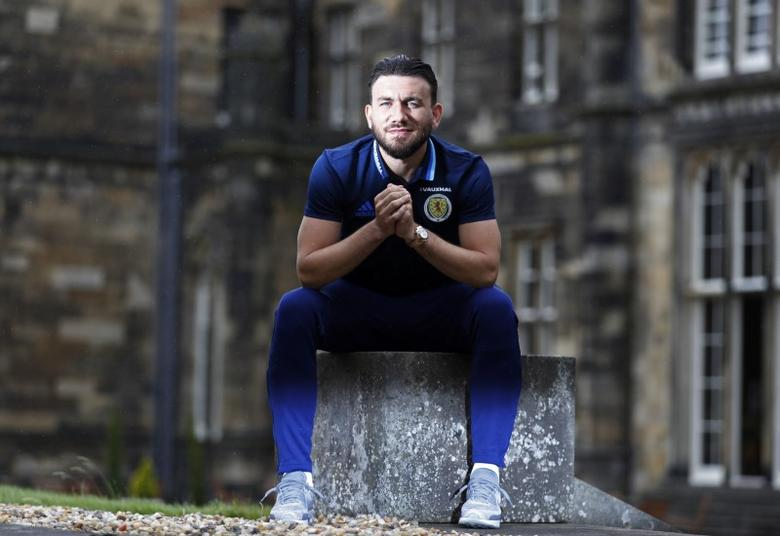Britain Football Soccer - Scotland Training - Mar Hall, Bishopton, Scotland - June 5, 2017 Scotland's Robert Snodgrass poses after training Action Images via Reuters / Lee Smith Livepic
