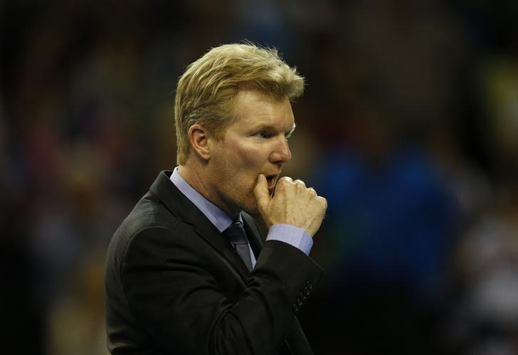 Tennis - Great Britain v United States of America - Davis Cup World Group First Round - Emirates Arena, Glasgow, Scotland - 8/3/15USA captain Jim Courier looks dejected after USA's John Isner (not pictured) lost to Great Britain's Andy Murray (not pictured)Action Images via Reuters / Andrew BoyersLivepic/Files