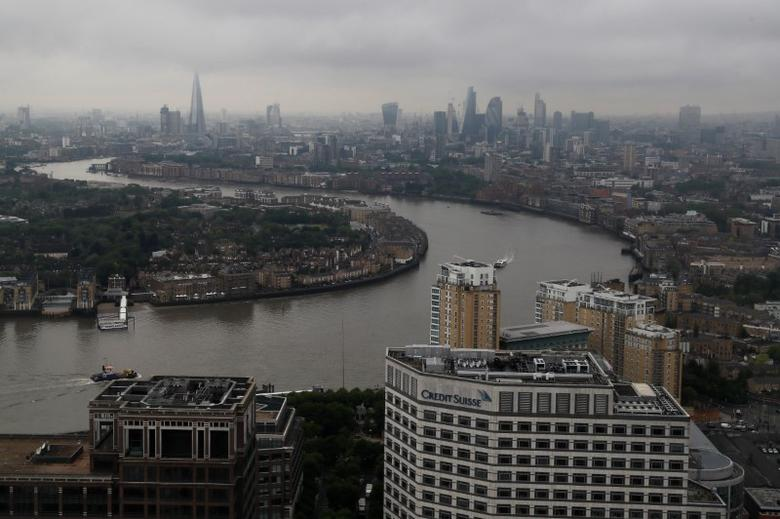 The City of London is seen from Canary Wharf, Britain May 17, 2017. REUTERS/Stefan Wermuth