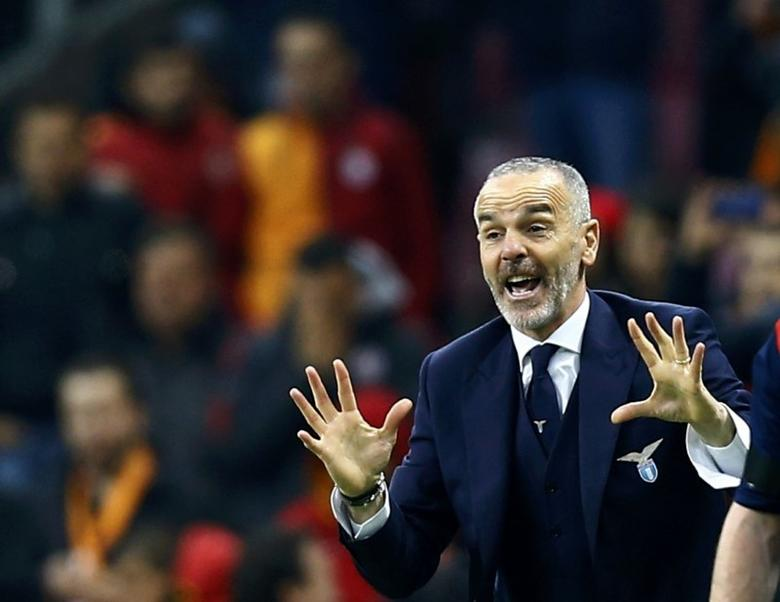 Football Soccer - Galatasaray v Lazio - UEFA Europa League Round of 32 - Ali Sami Yen Spor Kompleksi, Istanbul, Turkey - 18/02/16 Lazio's coach Stefano Pioli reacts during their match with Galatasaray   REUTERS/Osman Orsal   Picture Supplied by Action Images