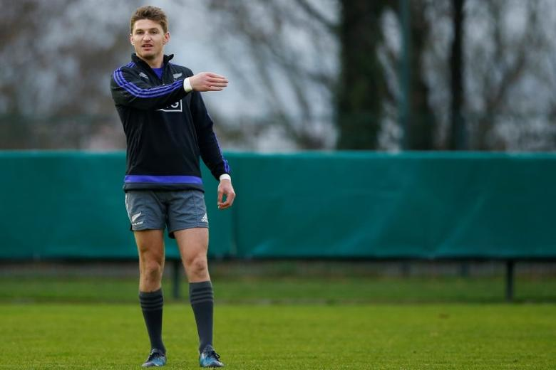 New Zealand All Blacks - New Zealand All Blacks Captain's Run - Stade Jean Moulin in Suresnes near Paris, France - 25/11/16.  New Zealand's Beauden Barrett during captain's run the day before their match against France. REUTERS/Gonzalo Fuentes
