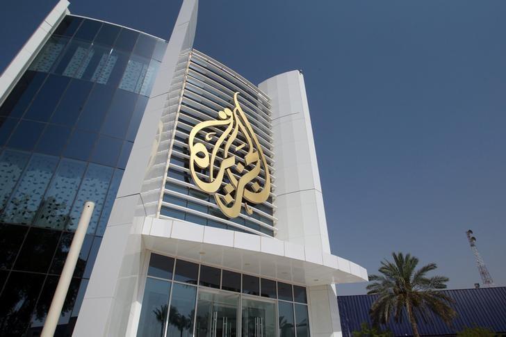 The Al Jazeera Media Network logo is seen on its headquarters building in Doha, Qatar June 8, 2017. REUTERS/Naseem Zeitoon
