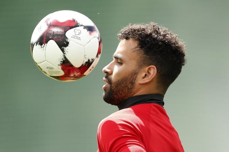 Britain Football Soccer - Wales Training - The Vale Resort, Vale of Glamorgan, Wales - June 7, 2017 Wales' Hal Robson-Kanu during training Action Images via Reuters / John Sibley Livepic