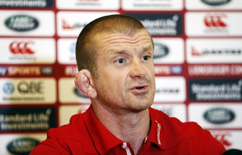Britain Rugby Union - British & Irish Lions Press Conference - WRU National Centre of Excellence, Vale of Glamorgan, Wales  - 15/5/17 British & Irish Lions Coach Graham Rowntree during the press conference Action Images via Reuters / Andrew Boyers Livepic