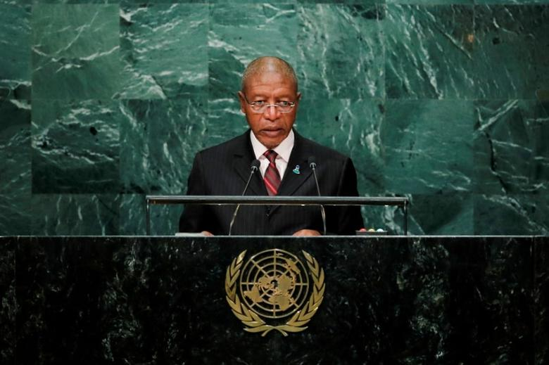 Prime Minister Pakalitha Mosisili of Lesotho addresses the United Nations General Assembly in the Manhattan borough of New York, NY, U.S September 23, 2016. REUTERS/Eduardo Munoz/File Photo