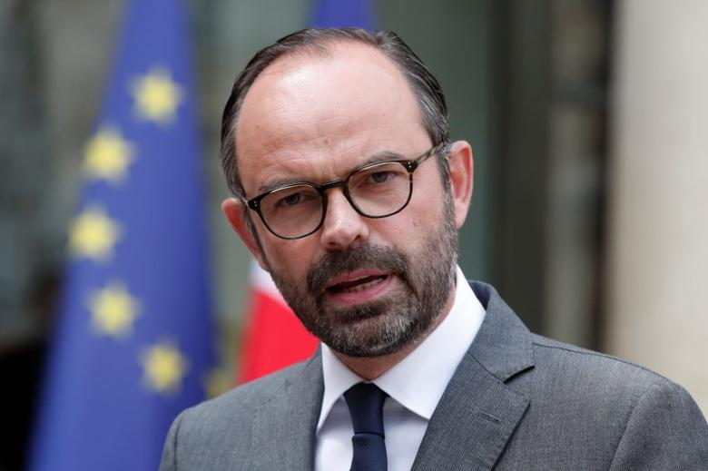 French Prime Minister Edouard Philippe speaks at the Elysee Palace after a weekly cabinet meeting in Paris, France, May 24, 2017. REUTERS/Benoit Tessier/Files