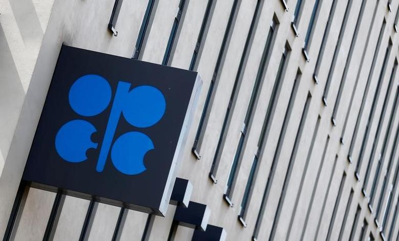 The OPEC logo is seen outside the group's headquarters in Vienna, Austria May 24, 2017.  REUTERS/Leonhard Foeger/File Photo