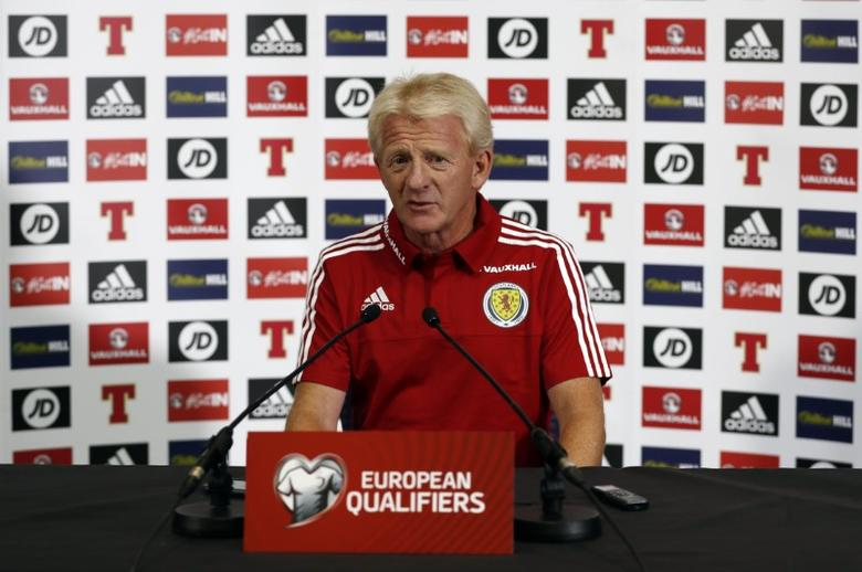 Britain Football Soccer - Scotland Press Conference - Mar Hall, Bishopton & Hampden Park, Glasgow, Scotland - June 9, 2017 Scotland manager Gordon Strachan during the press conference Action Images via Reuters / Lee Smith Livepic