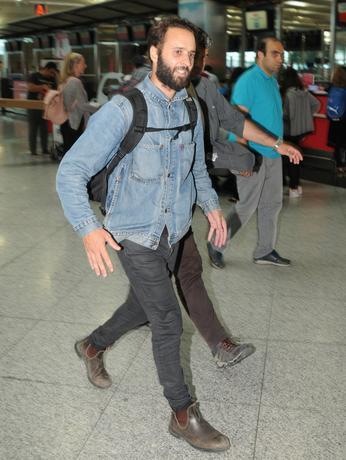 French photographer Mathias Depardon walks at the international departure terminal of Ataturk airport in Istanbul, Turkey, June 9, 2017. REUTERS/Stringer