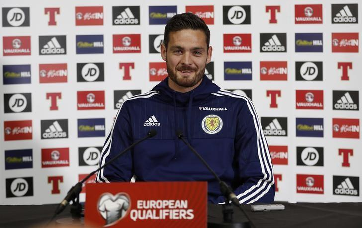 Britain Football Soccer - Scotland Press Conference - Mar Hall, Bishopton & Hampden Park, Glasgow, Scotland - June 9, 2017 Scotland's Craig Gordon during the press conference Action Images via Reuters / Lee Smith Livepic