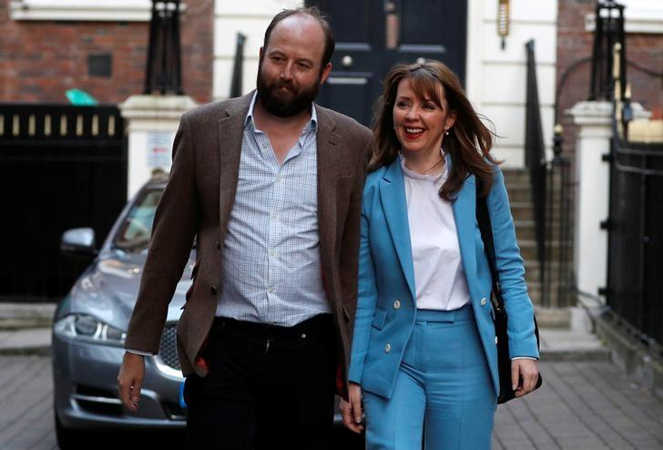 Nick Timothy and Fiona Hill, Britain's Prime Minister Theresa May's closest advisors, leave the Conservative Party headquarters, in London, June 9, 2017. REUTERS/Peter Nicholls/Files