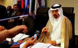 El ministro de Energía saudí durante una conferencia de la OPEP en Viena, Austria, 25 mayo, 2017. No hay evidencias de que un pacto de reducción a la producción petrolera entre los mayores productores globales requiera ajustes, dijo el sábado el ministro de Energía saudí, Khalid al-Falih, señalando que la reciente debilidad en los precios del crudo sería una sobrerreacción a fallas estadísticas. REUTERS/Leonhard Foeger