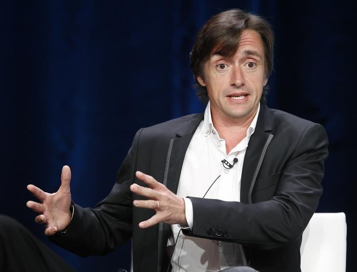 FILE PICTURE: Richard Hammond, host of the BBC America series ''Richard Hammond's Crash Course,'' speaks at the Cable portion of the Television Critics Association Summer press tour in Beverly Hills, California August 1, 2012.   REUTERS/Fred Prouser