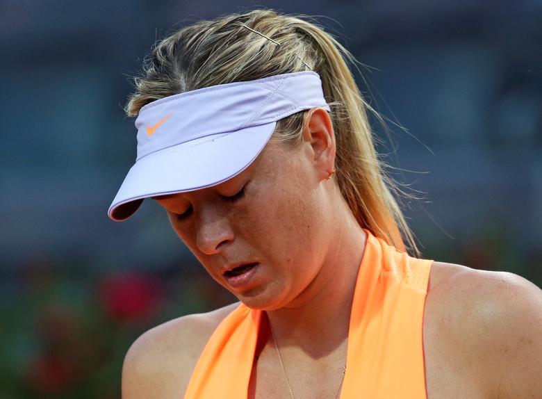 Tennis - WTA - Rome Open - Maria Sharapova of Russia v Mirjana Lucic-Baroni of Croatia - Rome, Italy - 16/5/17- Sharapova reacts during the match. REUTERS/Max Rossi