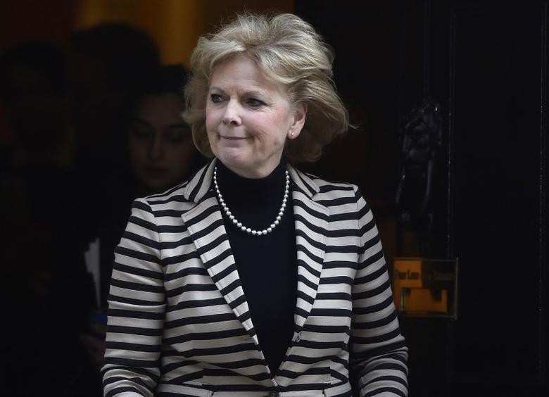 File photo - Britain's minister for small business Anna Soubry leaves a meeting at 10 Downing Street in London, March 31, 2016. REUTERS/Toby Melville
