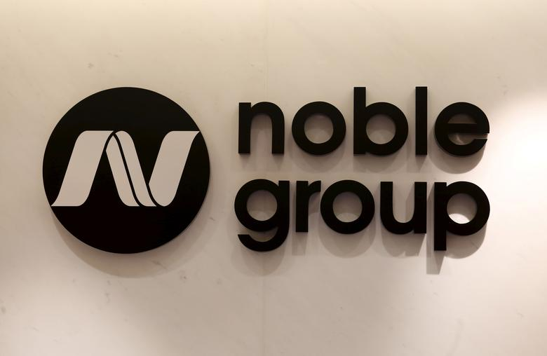 FILE PHOTO: The company logo of Noble Group is displayed at its office in Hong Kong, China January 22, 2016.    REUTERS/Bobby Yip/File Photo