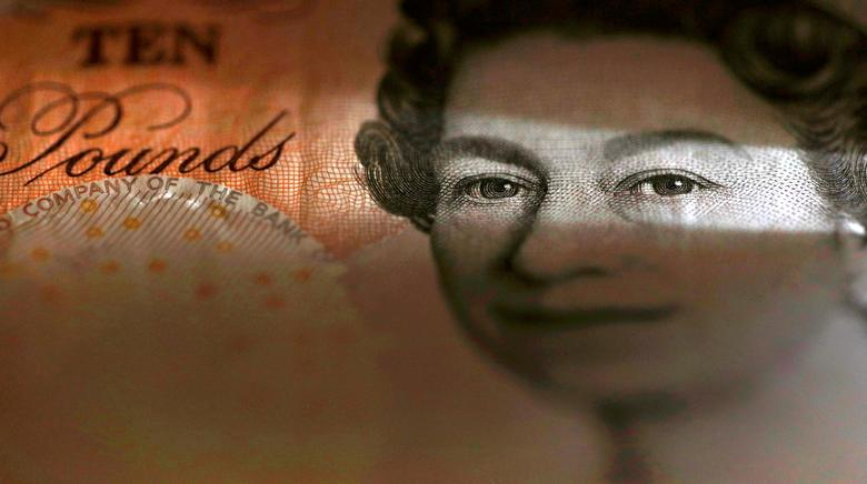 FILE PHOTO: An English ten Pound note is seen in an illustration taken March 16, 2016.  REUTERS/Phil Noble/Illustration/File photo