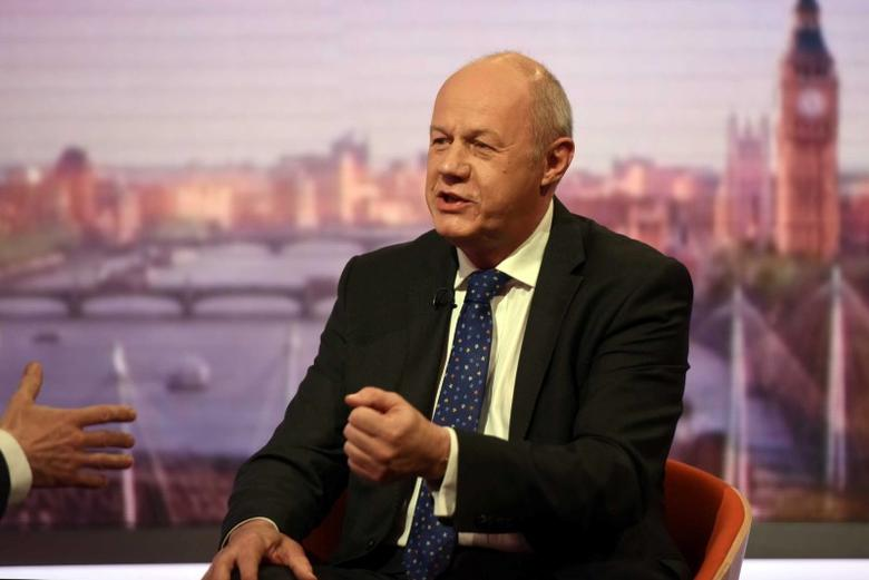 Damian Green, Secretary of State for Work and Pensions, speaks on the BBC's Andrew Marr Show in London, Britain May 21, 2017.  Jeff Overs/BBC Handout via REUTERS