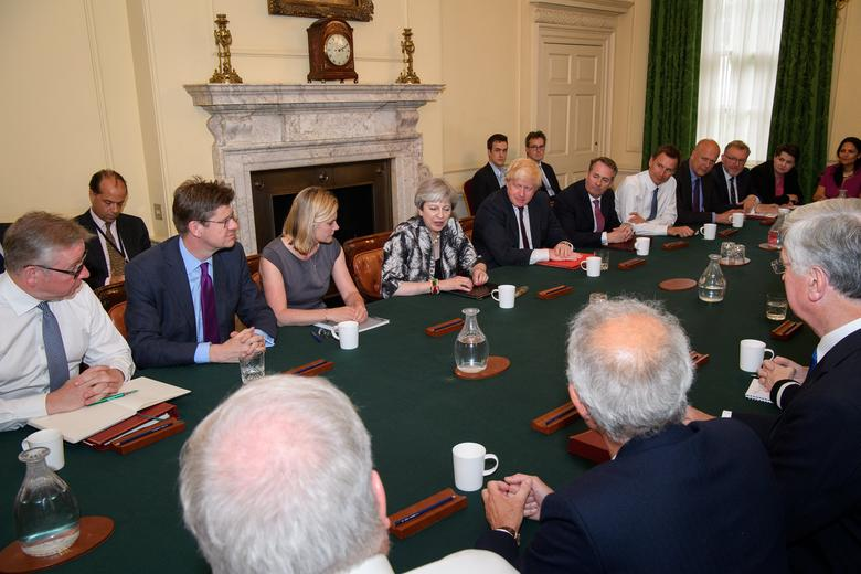 Britain's Prime Minister Theresa May holds the first Cabinet meeting following the general election at 10 Downing Street, in London June 12, 2017. REUTERS/Leon Neal/Pool