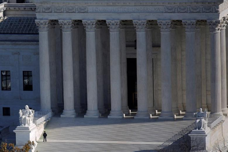FILE PHOTO -- The U.S. Supreme Court building is pictured in Washington, DC, U.S. on November 15, 2016. REUTERS/Carlos Barria/File Photo