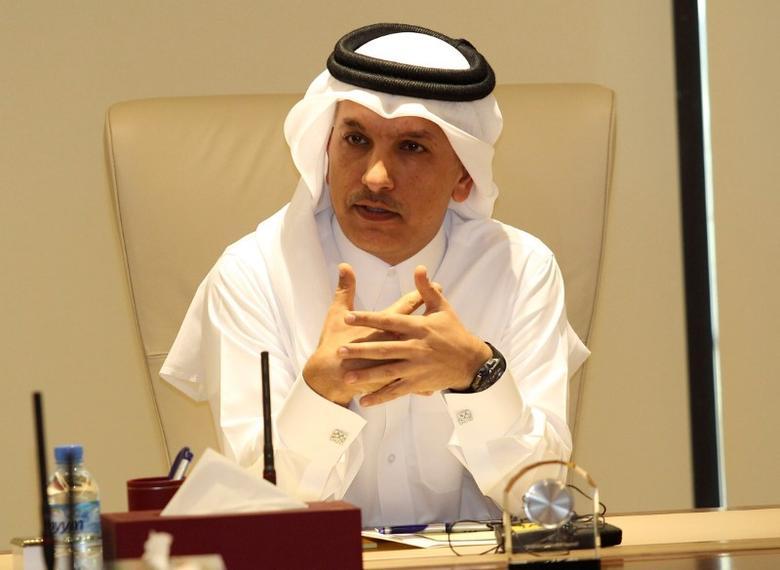 2017年2月,卡塔尔多哈,卡塔尔财长Ali Sherif al-Emadi出席一次记者会。REUTERS/Naseem Zeitoon