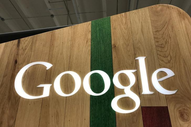 FILE PHOTO: A Google logo is seen in a store in Los Angeles, California, U.S., March 24, 2017. To match Exclusive EU-GOOGLE/ANTITRUST   REUTERS/Lucy Nicholson/File Photo