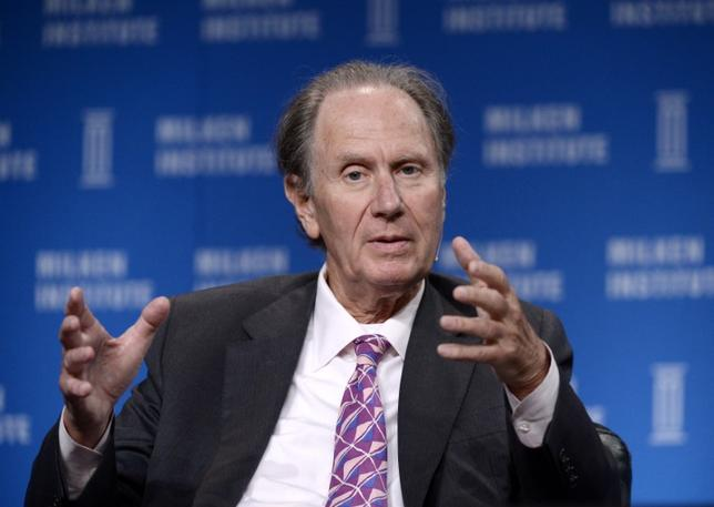 David Bonderman, Founding Partner, TPG, takes part in Private Equity: Rebalancing Risk session during the 2014 Milken Institute Global Conference in Beverly Hills, California April 29, 2014.  REUTERS/Kevork Djansezian