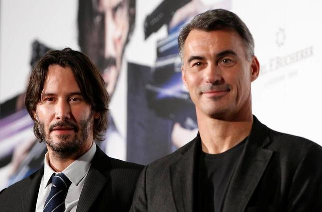 Cast member Keanu Reeves (L) and director Chad Stahelski attend a promotional event of movie ''John Wick: Chapter 2'' in Tokyo, Japan June 13, 2017. REUTERS/Kim Kyung-Hoon - RTS16UGR