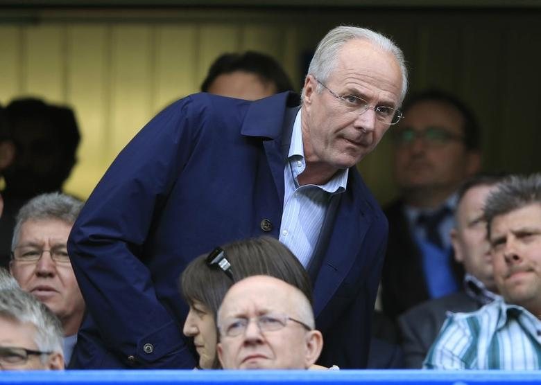 FILE PHOTO: Former England manager Sven-Goran Eriksson arrives for the English Premier League soccer match between Chelsea and Blackburn Rovers at Stamford Bridge in London May 13, 2012.    REUTERS/Eddie Keogh