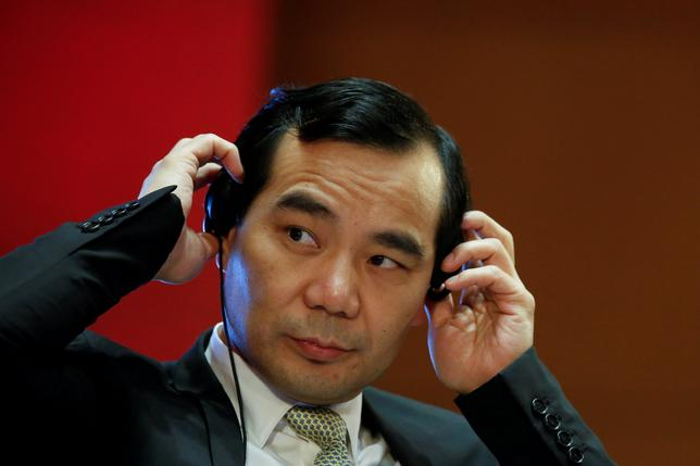 FILE PHOTO: Chairman of Anbang Insurance Group Wu Xiaohui attends the China Development Forum in Beijing, China March 18, 2017.  REUTERS/Thomas Peter/File Photo