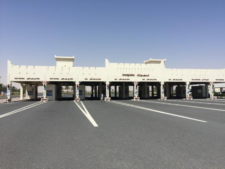 A view shows Abu Samra border crossing to Saudi Arabia, in Qatar June 12, 2017. REUTERS/Tom Finn