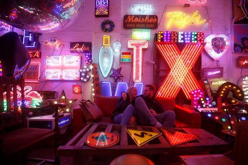 Under the neon glow