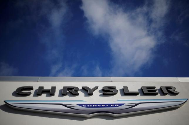FILE PHOTO:  A sign marks Clark Chrysler Jeep Dodge Ram dealership in Methuen, Massachusetts, U.S. January 25, 2017.   REUTERS/Brian Snyder/File Photo