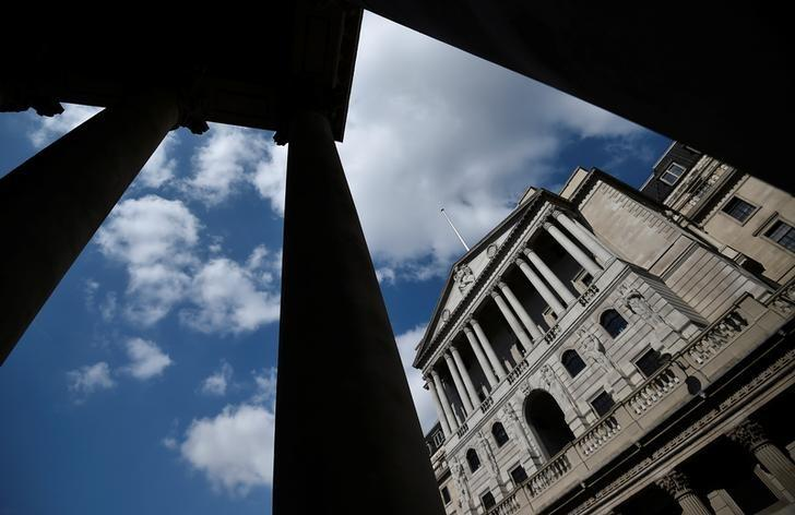 A general view shows the Bank of England in the City of London, Britain April 19, 2017. REUTERS/Hannah McKay/File Photo