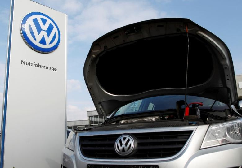 A Volkswagen VW car is seen at a car dealer in Bochum, Germany March 16,2016. REUTERS/Ina Fassbender/File Photo