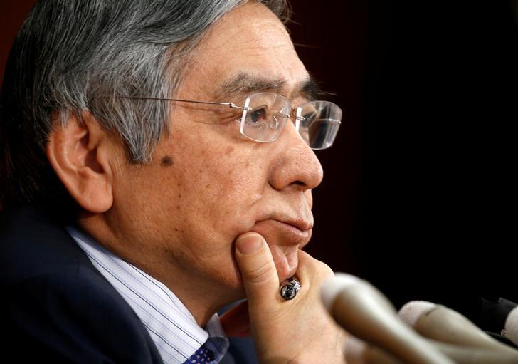 Bank of Japan (BOJ) Governor Haruhiko Kuroda attends a news conference at the BOJ headquarters in Tokyo, Japan April 27, 2017. REUTERS/Kim Kyung-Hoon/Files