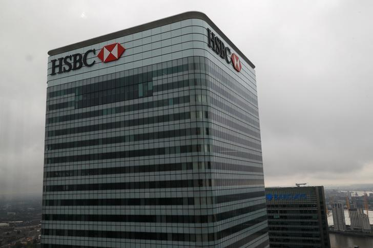 A HSBC and a Barclays bank building is seen at Canary Wharf in London, Britain May 17, 2017. REUTERS/Stefan Wermuth