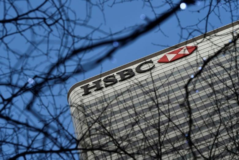 FILE PHOTO - The HSBC headquarters is seen in the Canary Wharf financial district in east London, Britain February 15, 2016.  REUTERS/Hannah McKay/File Photo