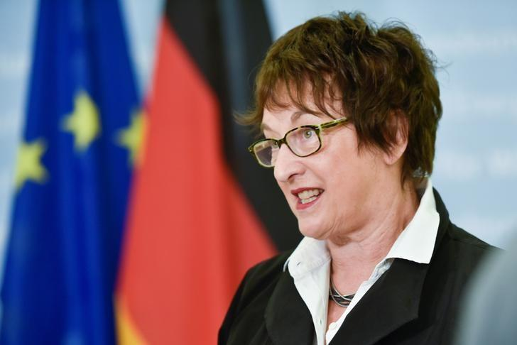 German Minister for Economic Affairs and Energy, Brigitte Zypries speaks during an interview with Reuters in Berlin, Germany June 16, 2017.   REUTERS/Stefanie Loos