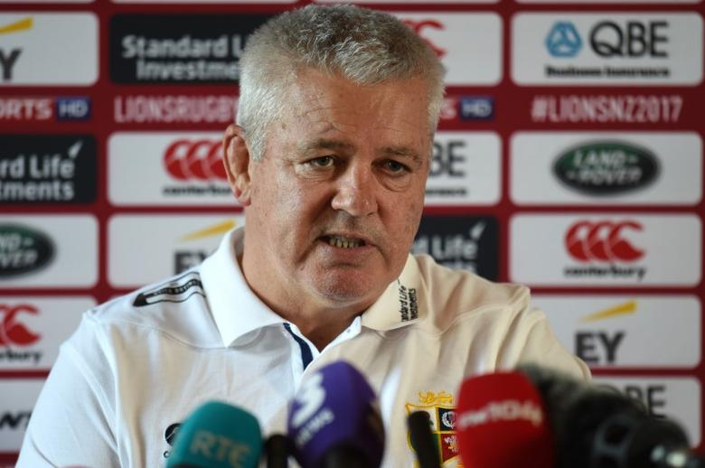 Rugby Union - British & Irish Lions Training & Press Conference - Carton House, Co. Kildare, Ireland - 22/5/17 British & Irish Lions Head Coach Warren Gatland during the press conference Reuters  / Clodagh Kilcoyne Livepic