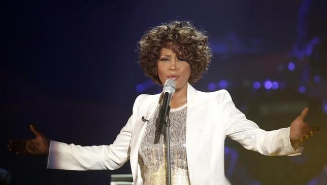 Singer Whitney Houston performs during the German game show ''Wetten Dass'' (Bet it...?) in Freiburg October 3, 2009. REUTERS/Johannes Eisele/files