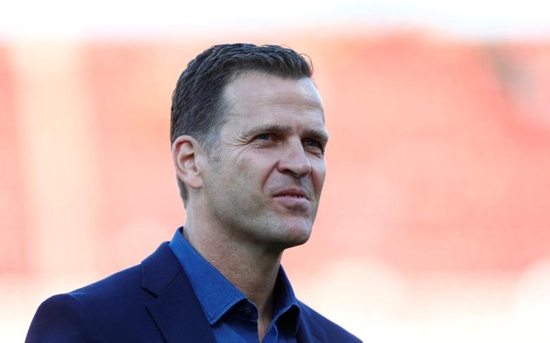 FILE PHOTO: Football Soccer - Germany v San Marino - 2018 World Cup Qualifying European Zone - Group C - Stadium Nuernberg, Nuremberg - 10/06/17 - Germany's team manager Oliver Bierhoff before the match.  Reuters/Michaela Rehle