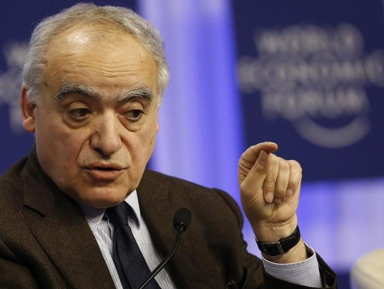FILE PHOTO: Ghassan Salame, dean of The Paris School of International Affairs, attends a session at the annual meeting of the World Economic Forum (WEF) in Davos January 24, 2014.                     REUTERS/Ruben Sprich/Files