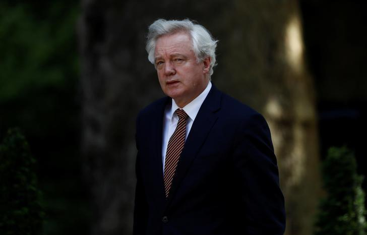 David Davis, Britain's Secretary of State for Exiting the European Union, arrives at Downing Street, in central London, Britain June 14, 2017.  REUTERS/Stefan Wermuth