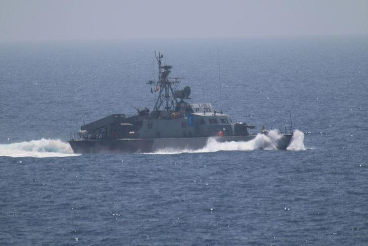 One of the five military vessels from Iran's Revolutionary Guard Corps that approached a U.S. warship hosting one of America's top generals on a day trip through the Strait of Hormuz is pictured in this July 11, 2016 handout photo.  U.S. Navy/Handout via REUTERS  ATTENTION EDITORS - THIS IMAGE WAS PROVIDED BY A THIRD PARTY. EDITORIAL USE ONLY